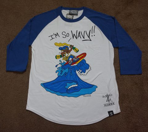 I'm So Wavy (Royal Blue/White) Raglan