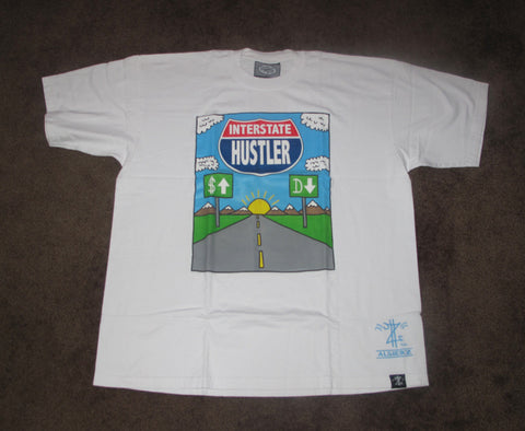 Interstate Hustler (white) T-Shirt