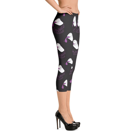 Leaning (Black) Capri Leggings
