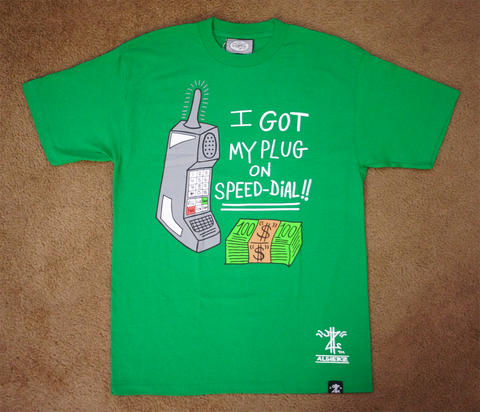Plug On Speed-Dial (Green T-shirt) Jackie Chain Official