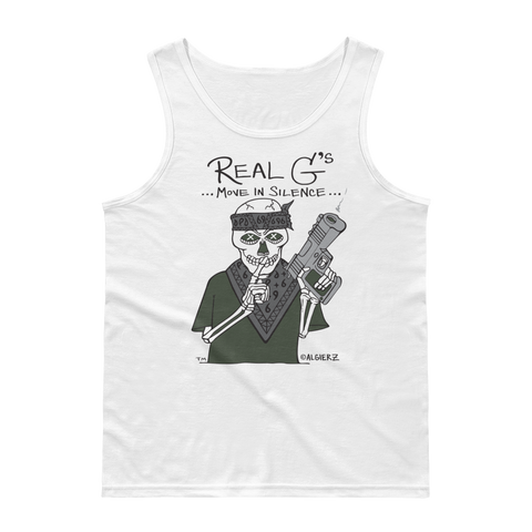 Real G's Move In Silence (white) Tank