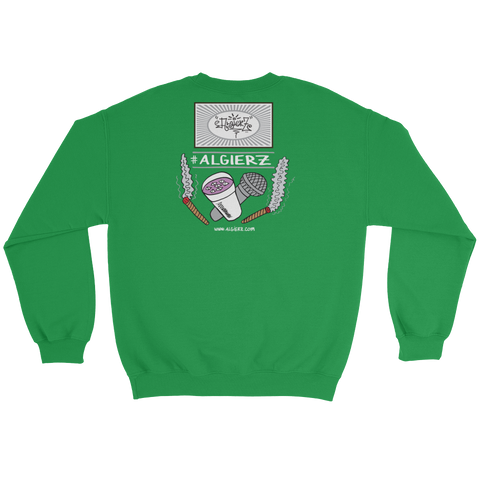 Slow-Mo With Tha Flows - Crewneck Sweatshirt (kelly green)