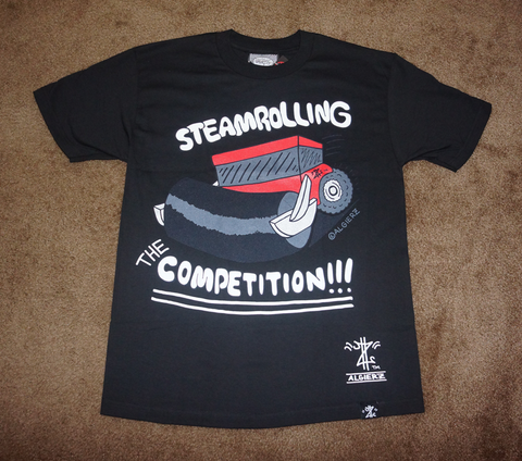 Steamrolling The Competition (black) T-Shirt