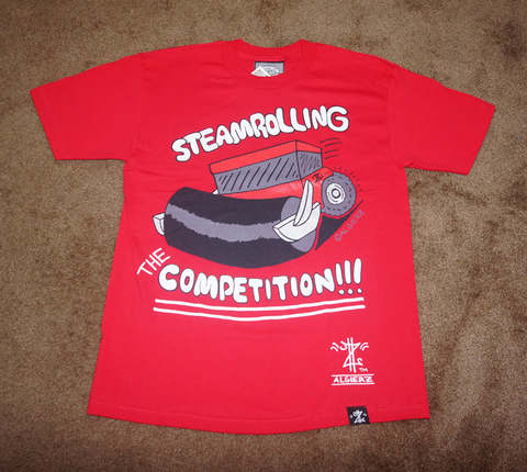 Steamrolling The Competition (red) T-Shirt