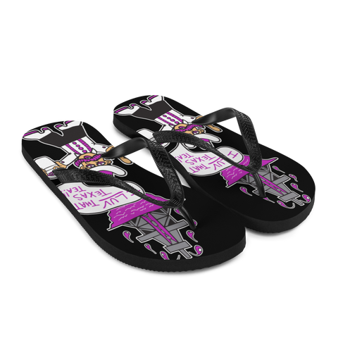 I Love That Texas Tea | Flip-Flops | Black