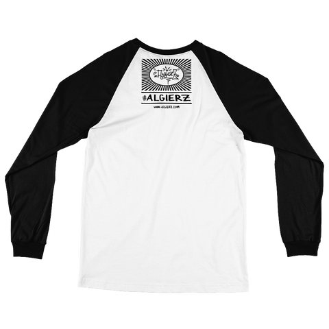 Bona Fide Hustler (white/black) Long-Sleeve Raglan Shirt