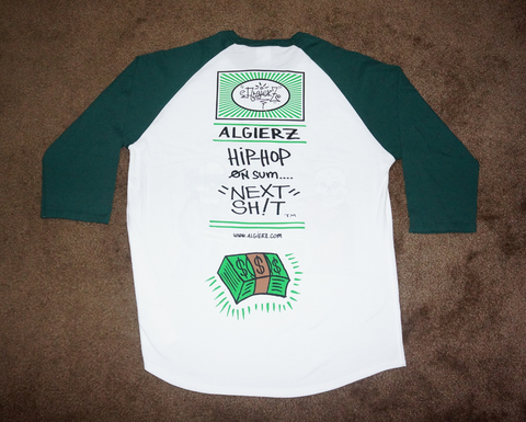 Cash On Delivery (green/white) Raglan