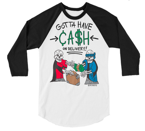 Cash On Delivery (white/black) Raglan