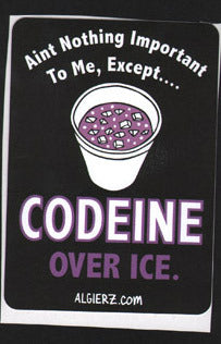 Codeine Over Ice - Z-Ro Sticker