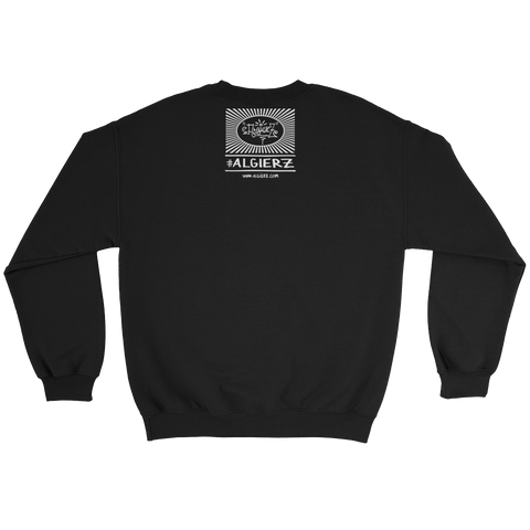 Algierz Flag, Crewneck Sweatshirt - Black