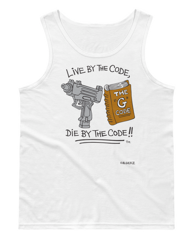 Live By The G Code (white) Tank