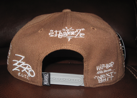 Tommy Gun Brown Snapback with I'm A Gangsta Side Embroidery