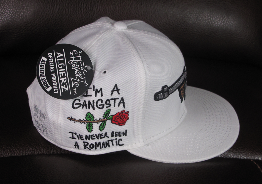 8cd5bc6eda0 ... Tommy Gun White Snapback with I m A Gangsta Side Embroidery ...