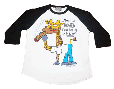 Higher Than Giraffe (white/black) Raglan