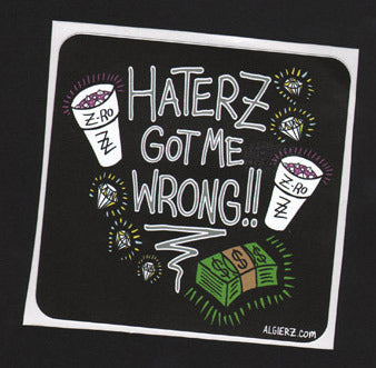 Haterz Got Me Wrong -  Sticker