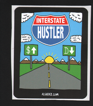 Interstate Hustler - Sticker