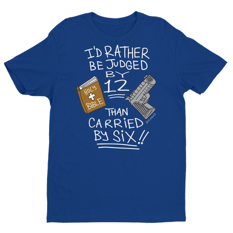 Judged By 12 (royal blue) T-shirt