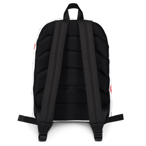 Kiss My Hustlin' A** - (White) Laptop Backpack