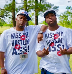 Kiss My Hustlin Ass (white) T-shirt