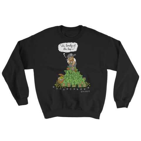 It's Lonely at the Top - Crewneck Sweatshirt - Black