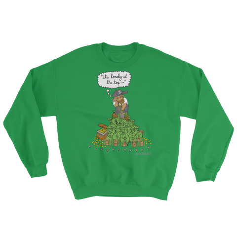 It's Lonely at the Top - Crewneck Sweatshirt - Green