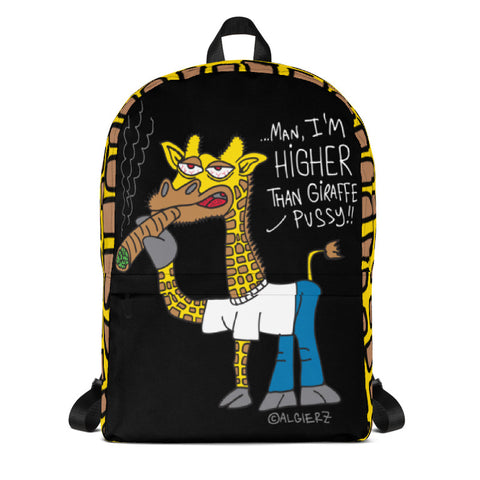 Higher Than Giraffe, Laptop Backpack, Black