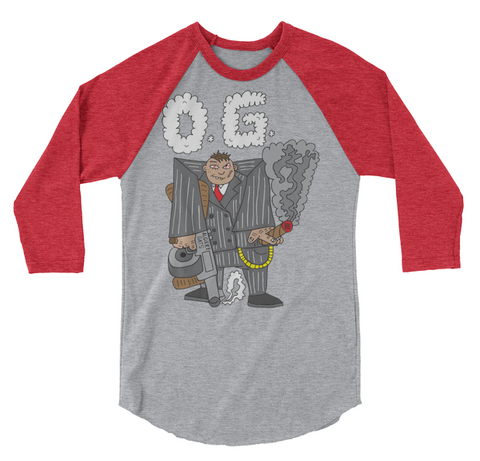 O.G. (grey/burgundy) Raglan