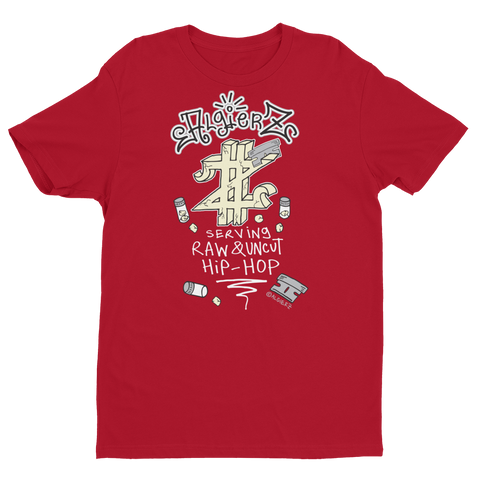 Serving Raw & Uncut Hip-Hop (red) T-Shirt