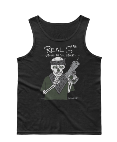 Real G's Move In Silence (black) Tank