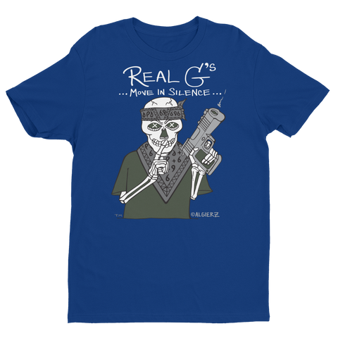 Real G's Move In Silence (blue) T-shirt