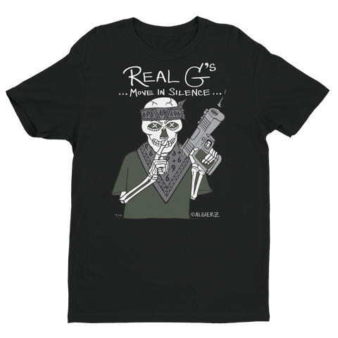 Real G's Move In Silence (black) T-shirt