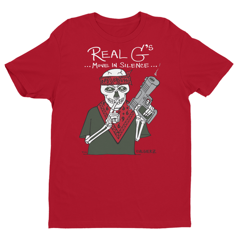 Real G's Move In Silence (red) T-shirt