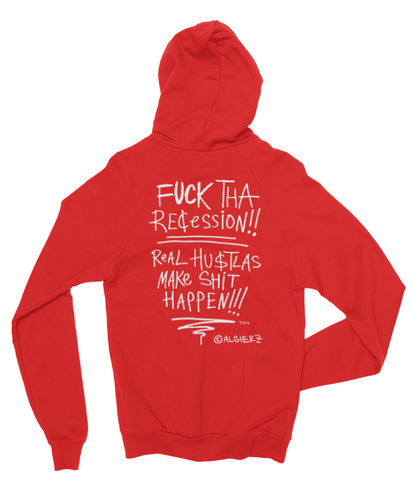Fuck Tha Recession // Zip-Up Hoody (Red)