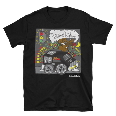 Riding High (black) T-shirt // 8Ball & MJG