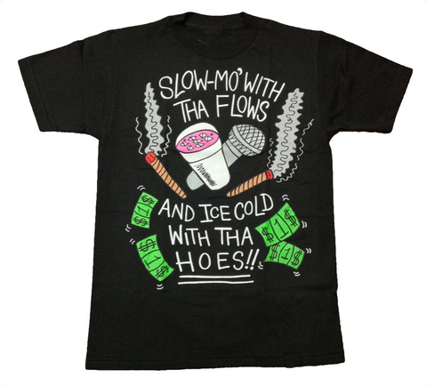 Slow-Mo With Tha Flows (black) T-Shirt