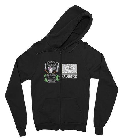 Slow-Mo With Tha Flows // Zip-Up Hoody (black)