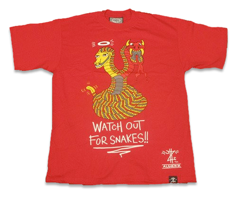 Watch Out For Snakes (red) T-Shirt