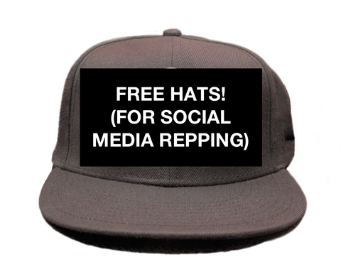 Free Hat! For Social Media Influencers (Snapback Hat)