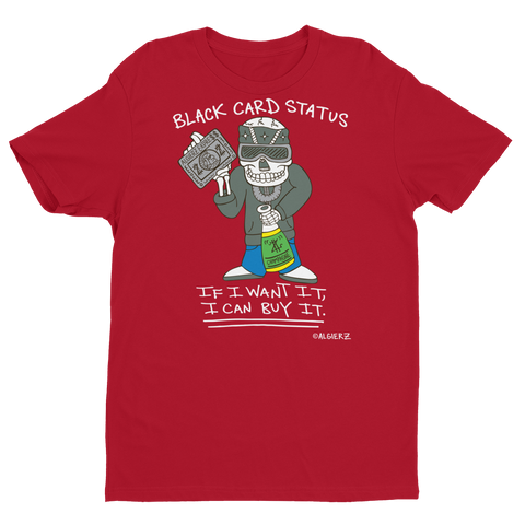 Black Card Status (red) T-Shirt