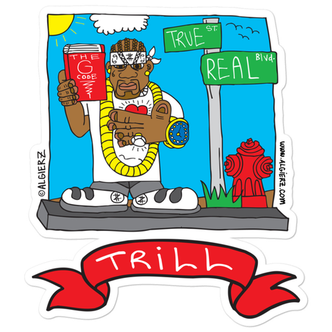 Trill Cartoon - Sticker