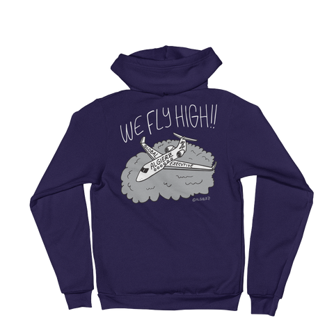 We Fly High // Zip-Up Hoody (navy blue)