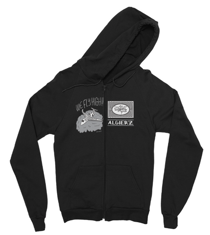 We Fly High // Zip-Up Hoody (black)