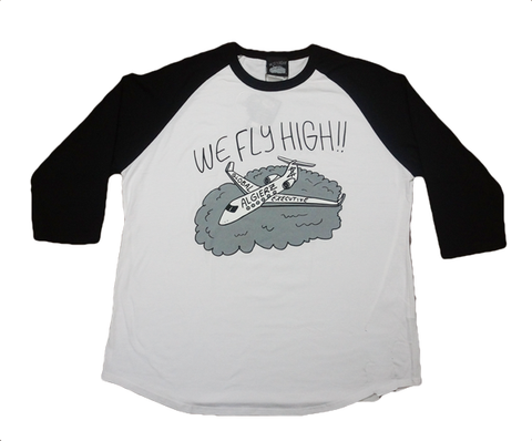 We Fly High (black/white) Raglan