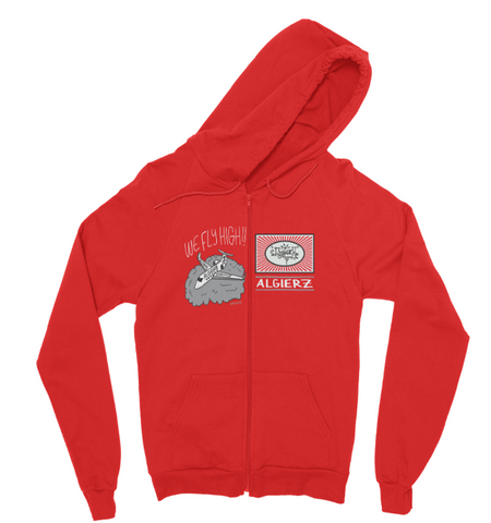 We Fly High // Zip-Up Hoody (Red)