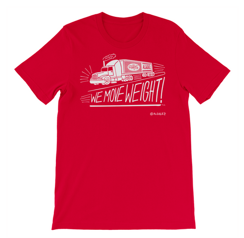We Move Weight (Red) T-Shirt