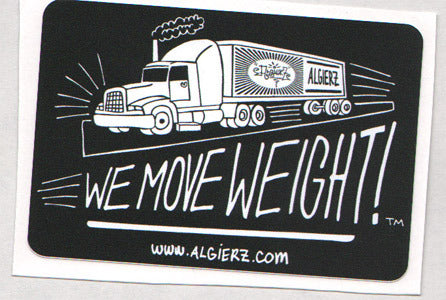 We Move Weight - Sticker