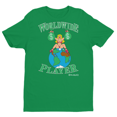 Worldwide Player (green) T-shirt