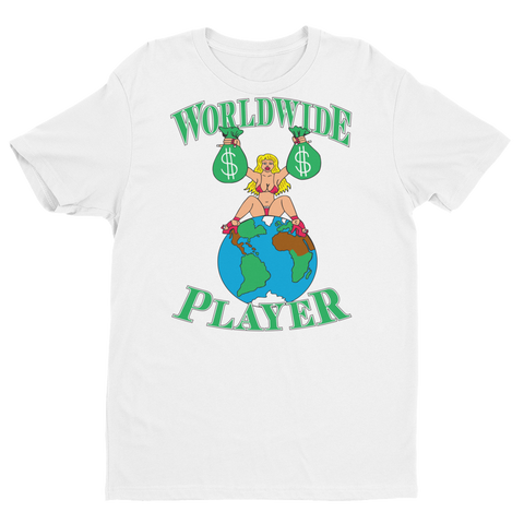Worldwide Player (white) T-shirt