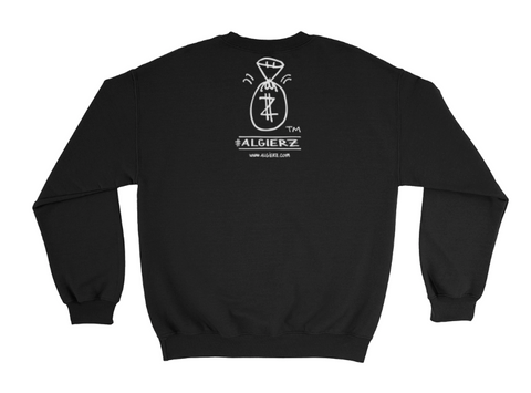 Money Bag - Black Crewneck Sweatshirt