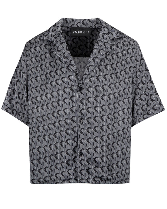 SILK BOWLING SHIRT MONOGRAM
